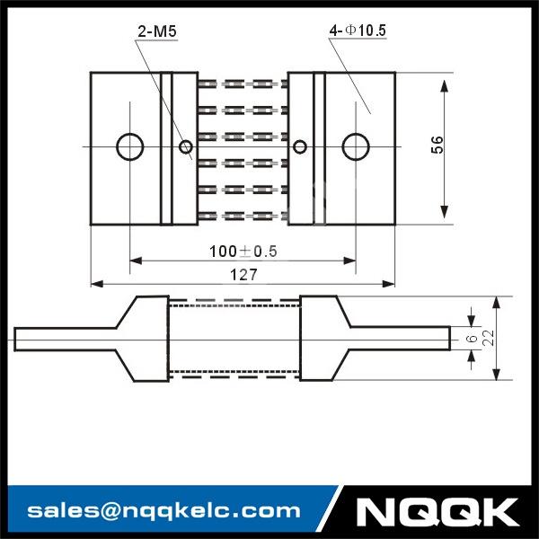 630A Voltmeter Ammeter Electric welding machine Dc current shunt resistor