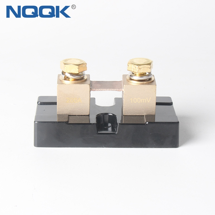 USA Type 200A 100mV DC Brass Electric Current Shunt Resistors for Ampere Panel Meter