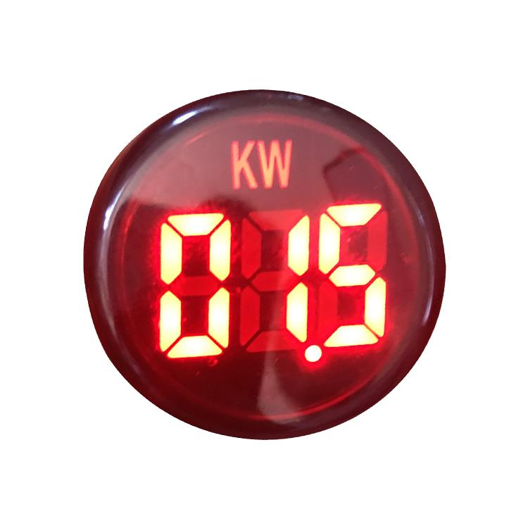 22mm 220VAC 26KW 380VAC 45KW Red Green LED Digital Indicator Lamp Power Meter