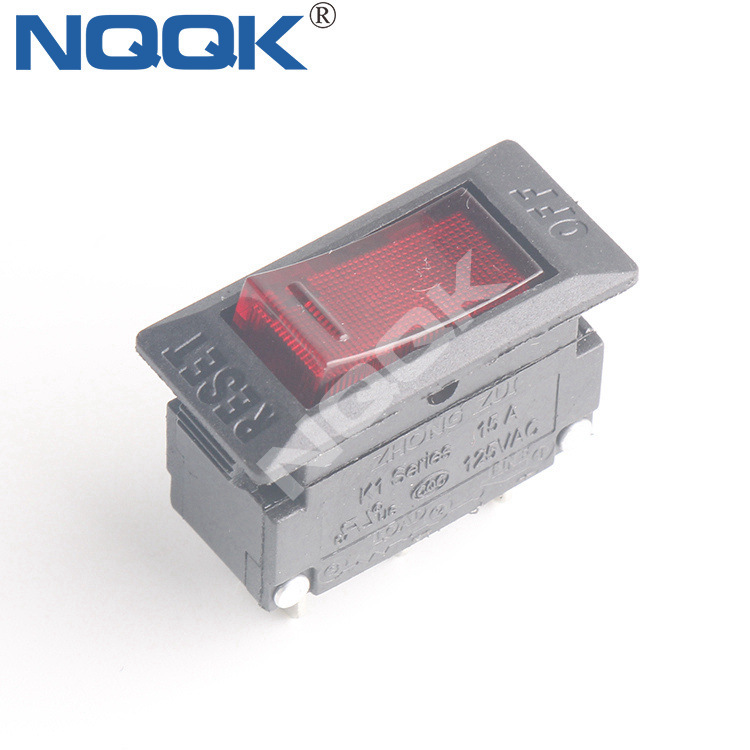 15A Overload 10A 250V over Current Protection Ship Type Switch with Light