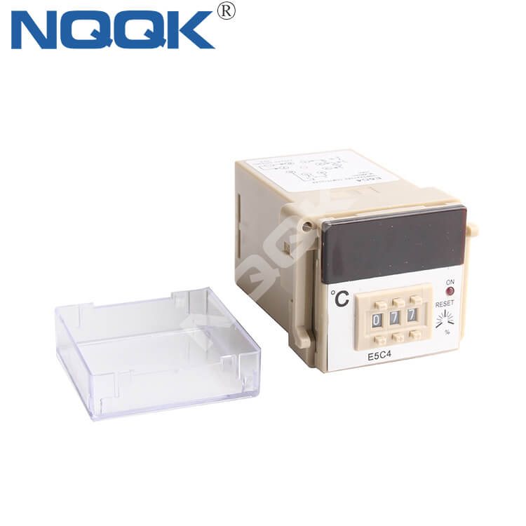 E5C4 48mm K J Mechanical Relay NO OFF Industrial Temperature Controller for Plastic / Rubber / Packing Machinery