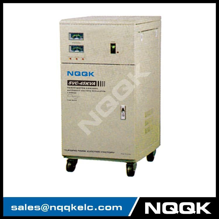 SVC 45KVA / 60KVA Servo Type 1Phase Series Voltage Stabilizer Regulator