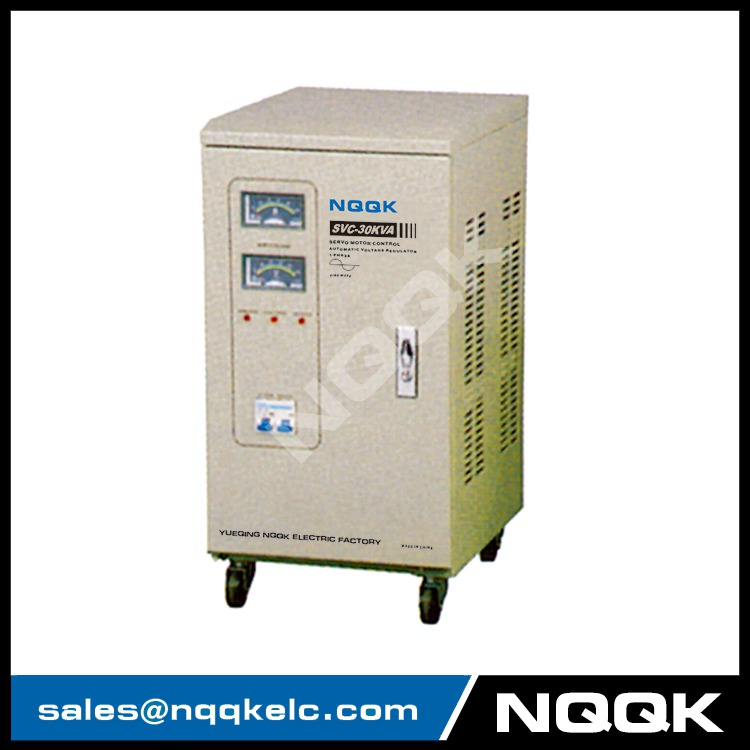 SVC 30KVA Servo Type 1Phase Series Voltage Stabilizer Regulator