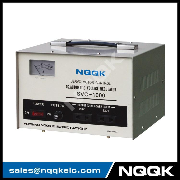 SVC 1KVA / 1.5KVA Servo Type 1Phase Series Voltage Stabilizer Regulator