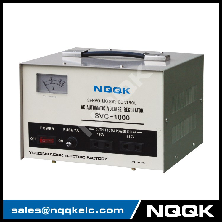 SVC 0.5KVA Servo Type 1Phase Series Voltage Stabilizer Regulator