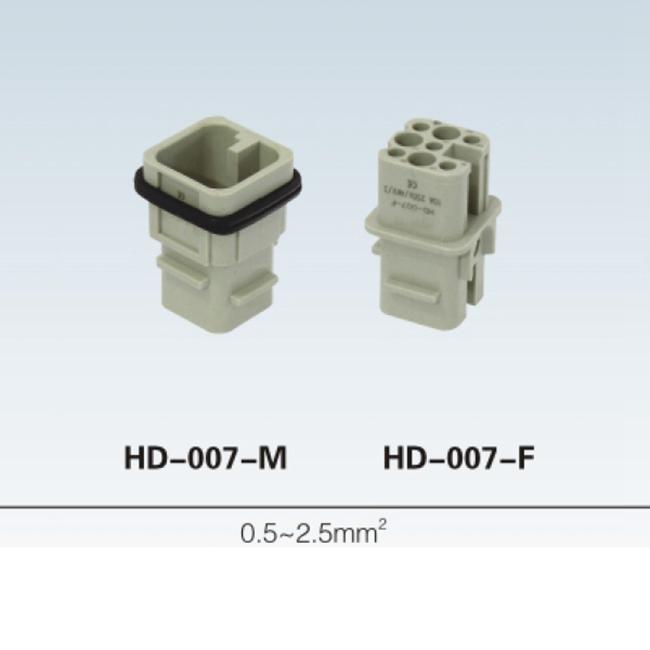 HD 7 ~128 pin Insert Series rectangular plug socket heavy duty connector