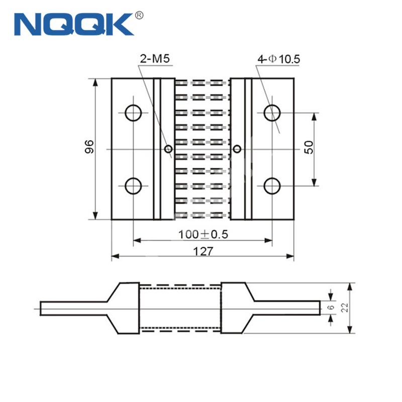 1000A Voltmeter Ammeter Electric welding machine Dc current shunt resistor
