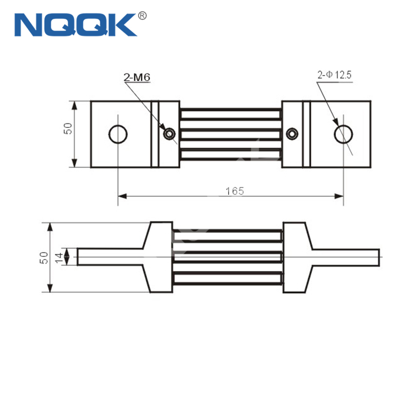 500A Voltmeter Ammeter Electric welding machine Dc current shunt resistor