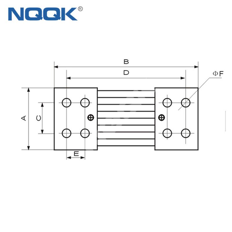 2000A 50mV ~ 100mV Voltmeter Ammeter DC current Manganin shunt resistor