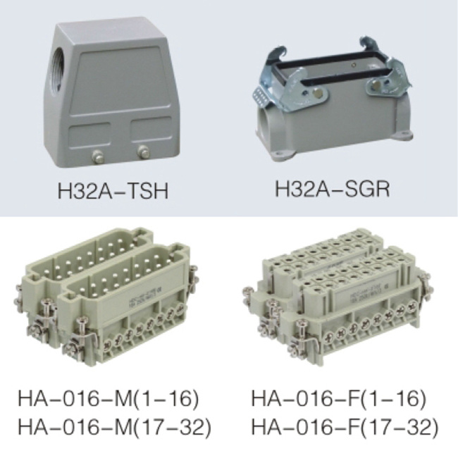 HA series 32pin heavy duty power connector for electric