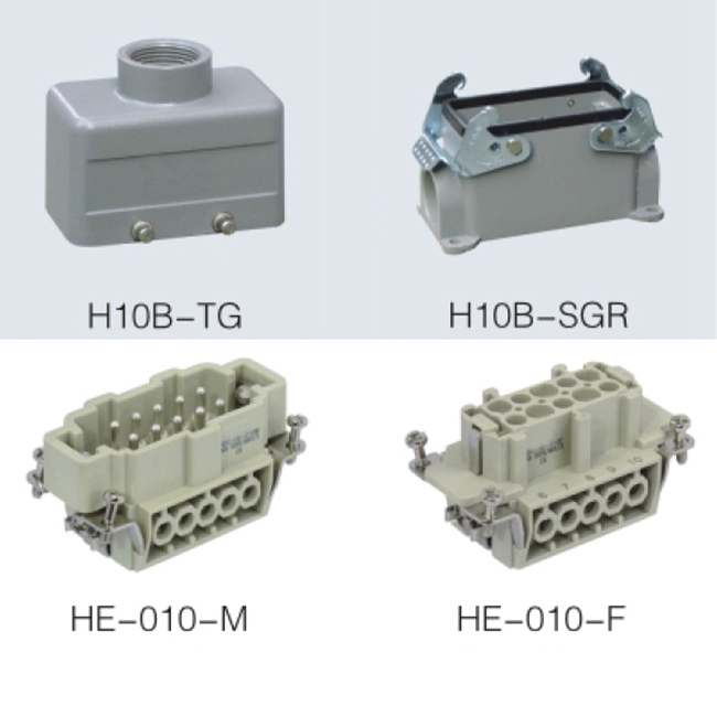 HA series 10 Poles of connector heavy duty power connector