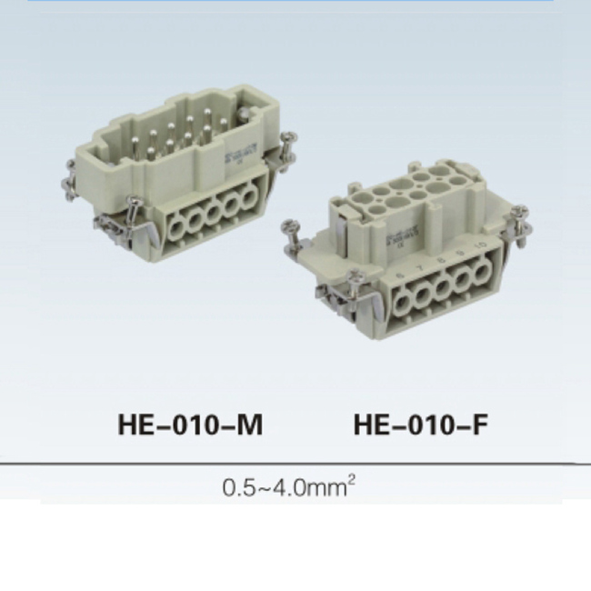 HE 6, 10, 16, 24, 32, 48 pin Insert Series heavy duty connector