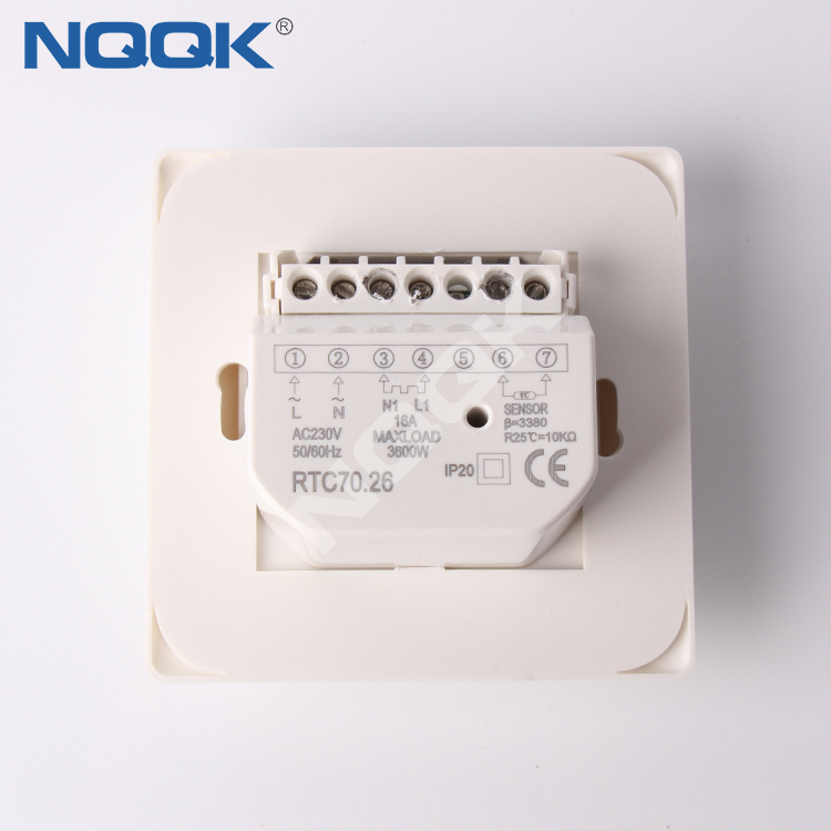 RTC70 3A 16A LED sensor electronic heating thermostat for mounting wallbox