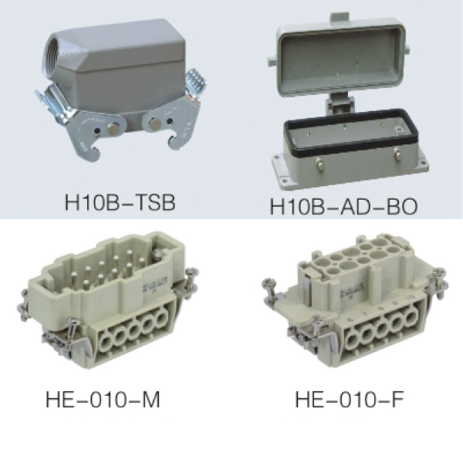 HE series 10pin connector heavy duty power connector for mechanical