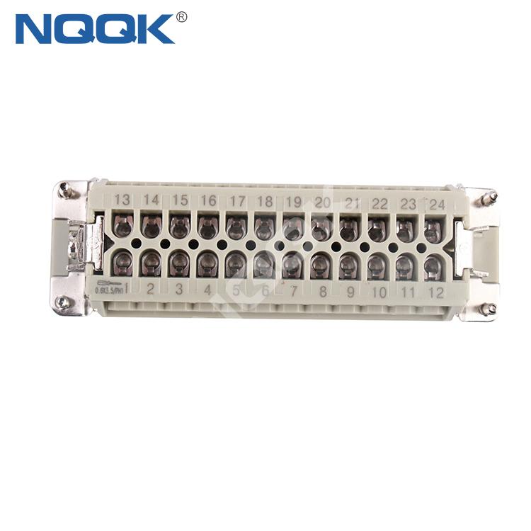 HA 24pin Insert Series rectangular plug socket heavy duty connector