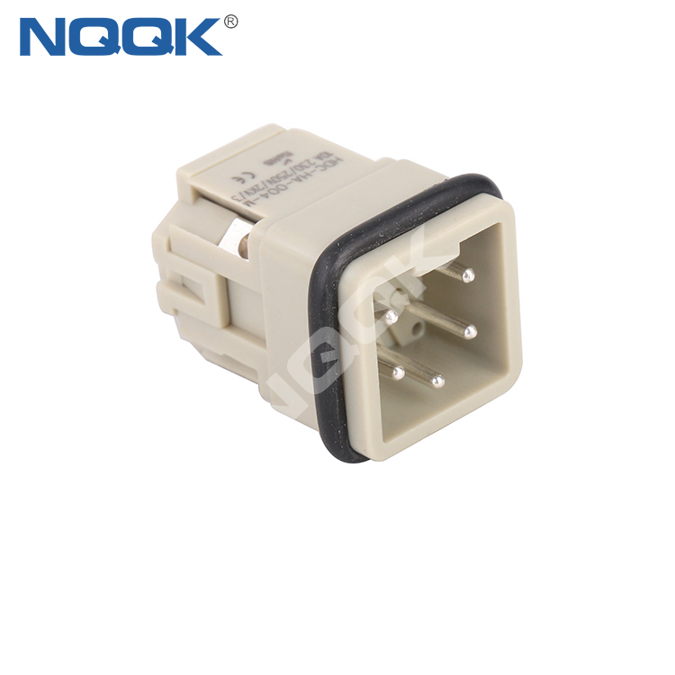 HA-004-M 4 pin Flame retardant male insert contacts heavy duty connector