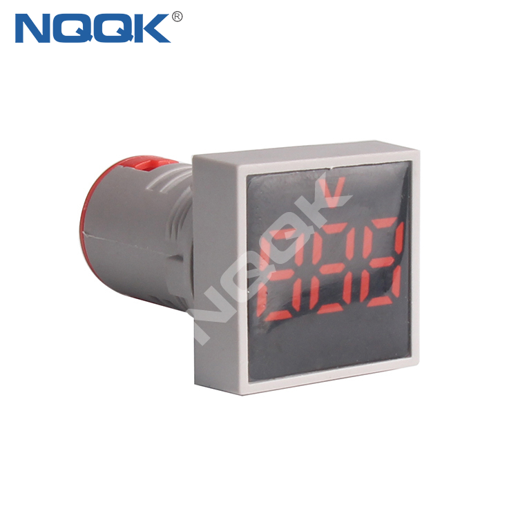 CE AD16 22mm Square Mini LED Indicator Light Lamp Digital Voltage Meter Voltmeter AC 12-500V
