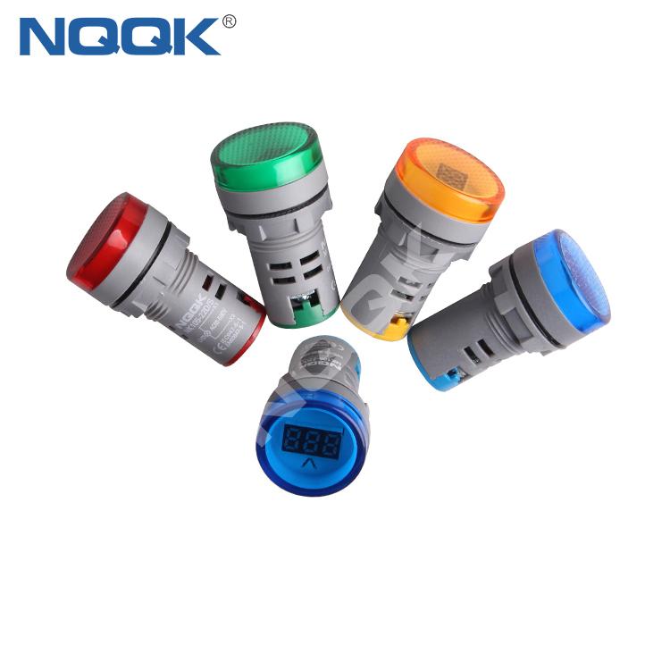 Mini 22 mm Digital Display LED Signals Indicator Light Lamp with AC Voltage Meter Voltmeter