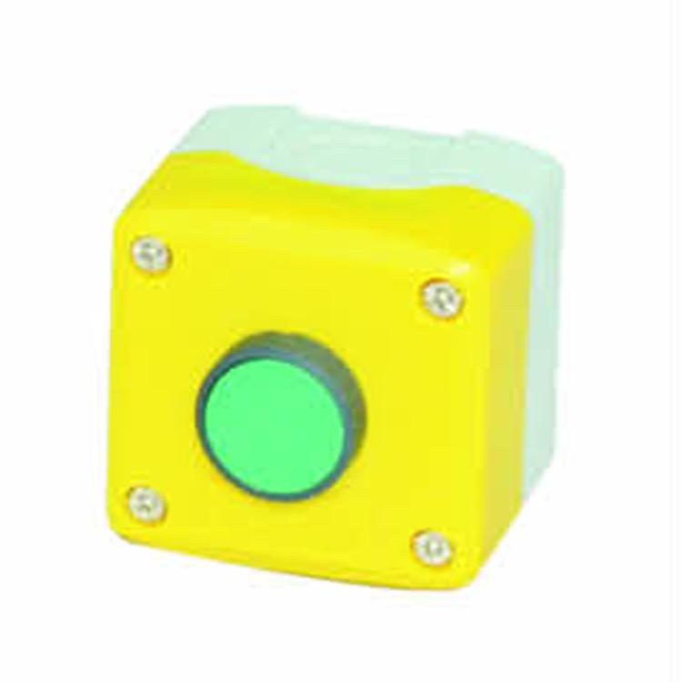 green red flush spring return push button XDL control push button box