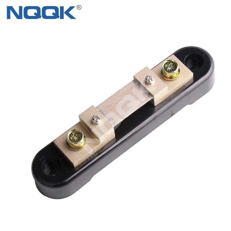 manufacturers FLJ-2 DC 100A 75mV dc Electric current Shunt Resistors with black base