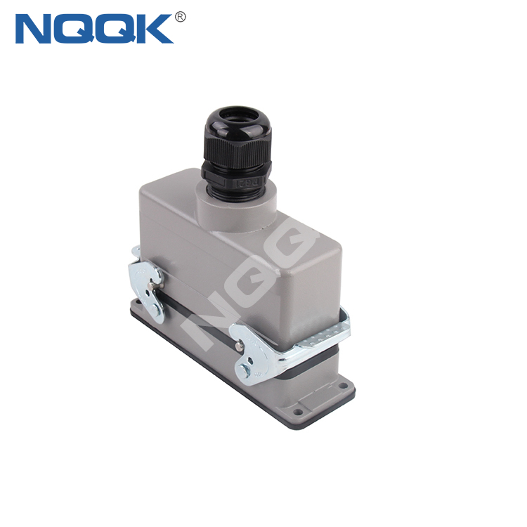 16 pin surface mounted heavy duty sockets connector with 1 levers