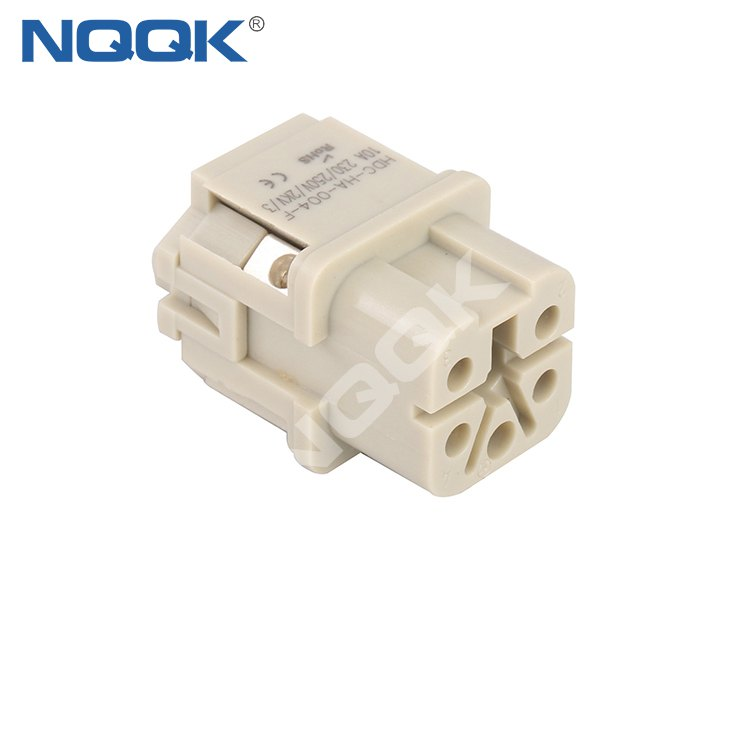 HA-004-F 4 pin male and female insert contacts heavy duty connector