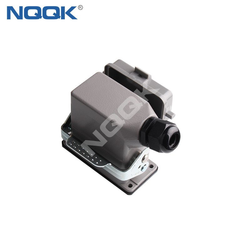 HDC-HE-010-03S 10 pin surface mounted heavy duty sockets connector with 2 levers