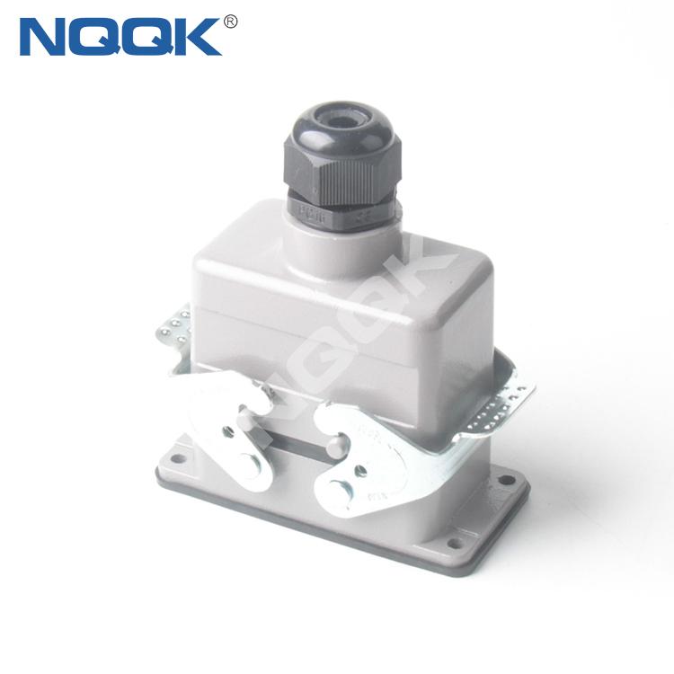 10 pin Screw spring crimp bulk head mounted heavy duty sockets connector