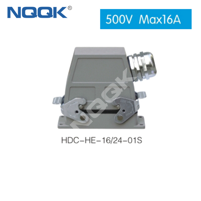 (HDC-HE-16/4-04D) 20 pin 500V electrical plug connectors heavy duty industrial connector