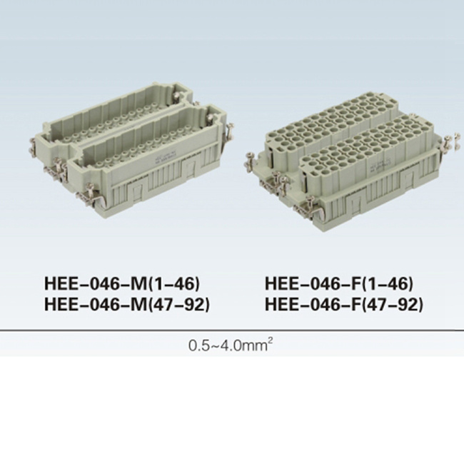 HEE-046-M HEE Series Screw terminal 92 pin heavy duty Connector