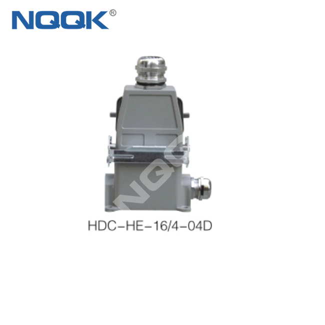 500V 16 pin Industrial rectangular waterproof plug socket heavy duty connector
