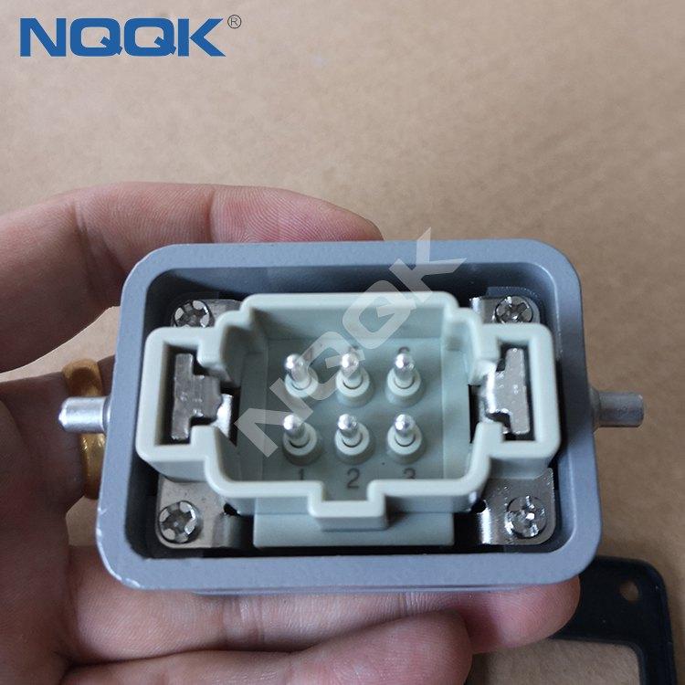 22 pins Industrial rectangular waterproof heavy duty connector plug socket