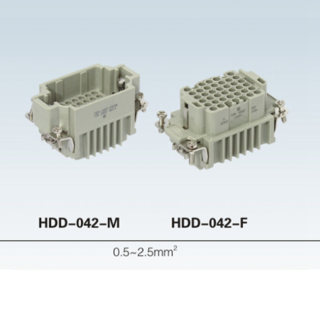 HDD-024-M HD Series crimp terminal industrial female male 24 pin Heavy Duty Connector
