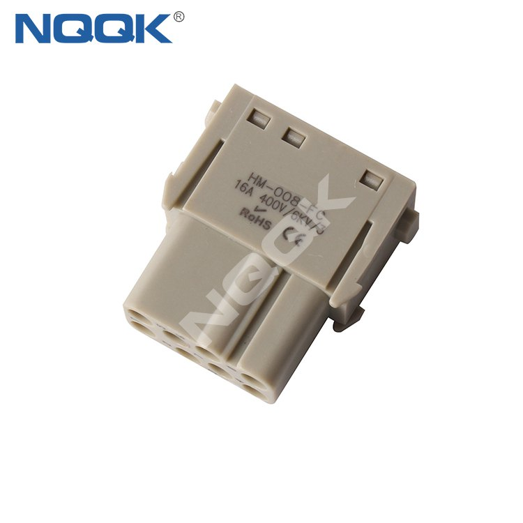 2 pin 40A 1000V Female heavy duty connector Plug-in module