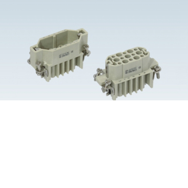 HQ-007-M 16A 400V industrial 7 pin male female connector Heavy Duty Electrical Connectors