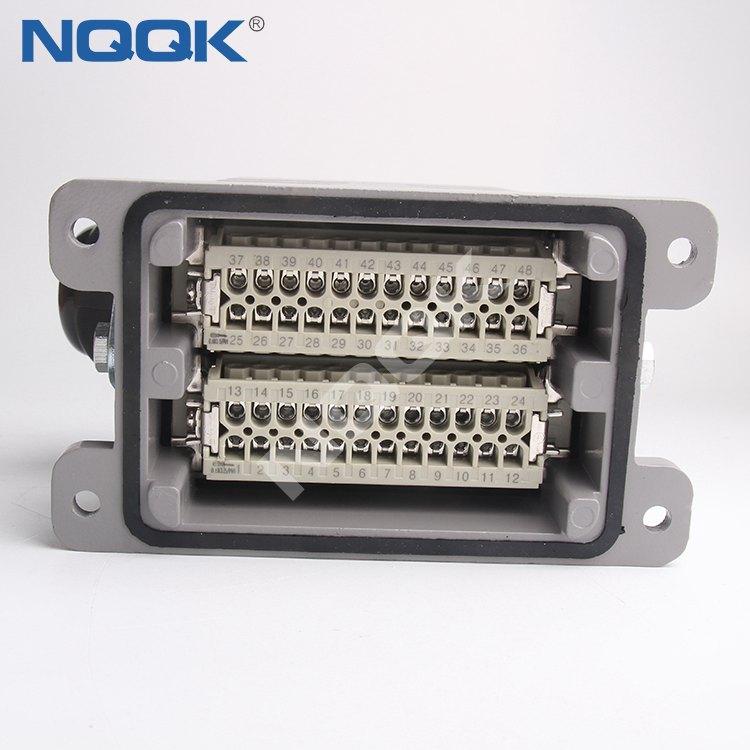 48 pin Screw Top entry heavy duty industrial connector