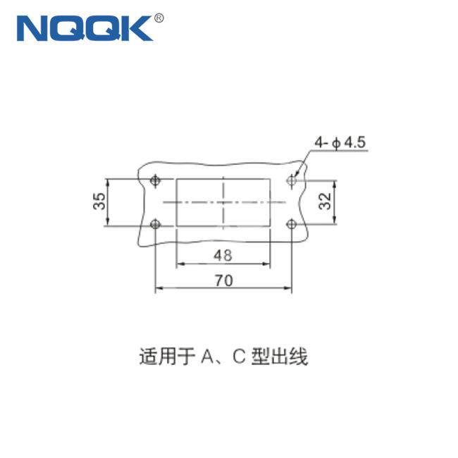 16 4 20pin Industrial rectangular heavy duty connector hdc
