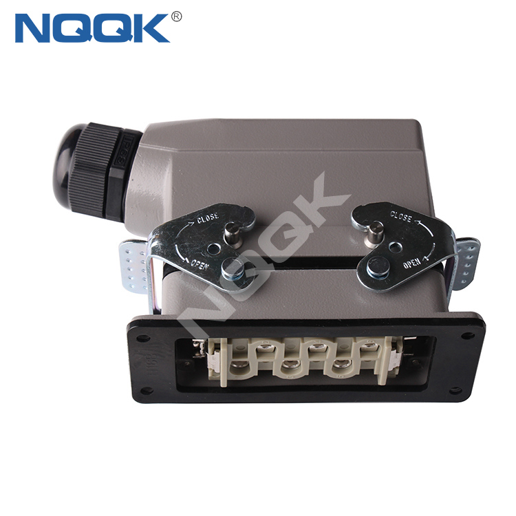 (HSB-006-M) 12 port 16A industrial female male Heavy Duty Electrical Connector