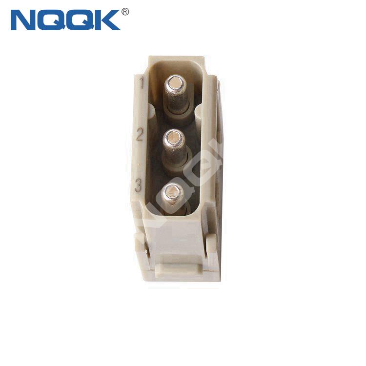 HMK-003-F 3 pin 40A 690V Female Module Plugin Cable heavy duty connector