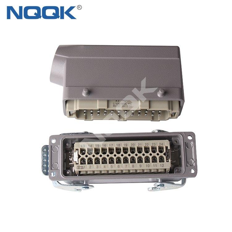 24 pin Bulk head mounted heavy duty sockets connector