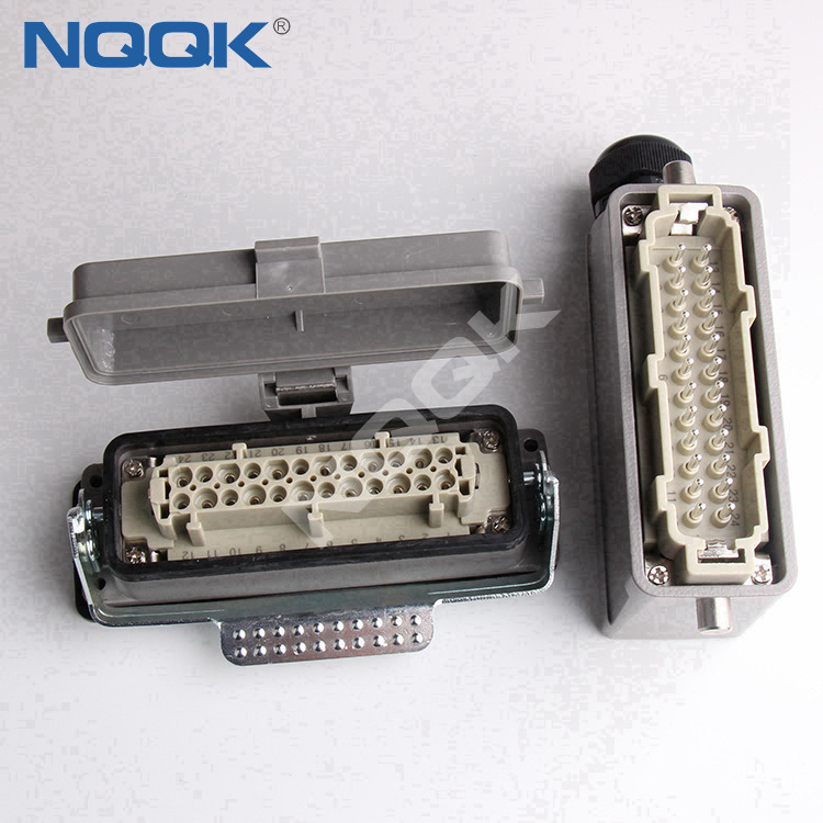plug socket top entry 24 pin wire heavy duty connector