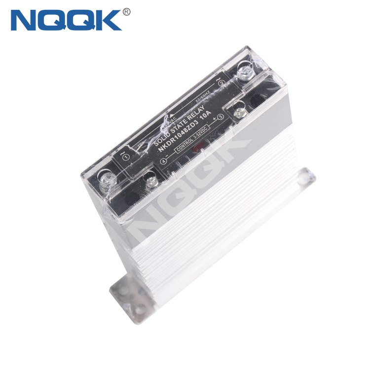 10A 32V DC to 480V AC single phase thin solid state relay with heat sink