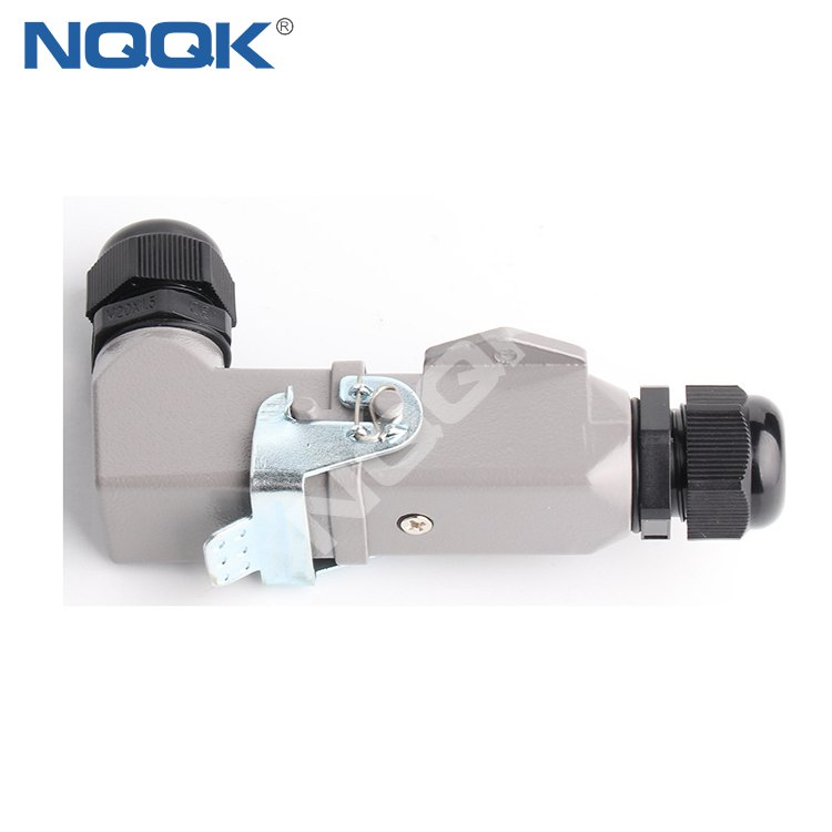 HDC-HA-004-03D HA 3 poles 10A IP65 Screw terminal Inserts surface mounted heavy duty sockets connector