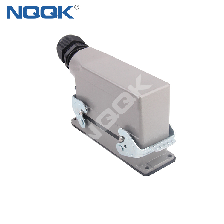 Metal Cover connector 24Position heavy duty industrial connector for robot arm