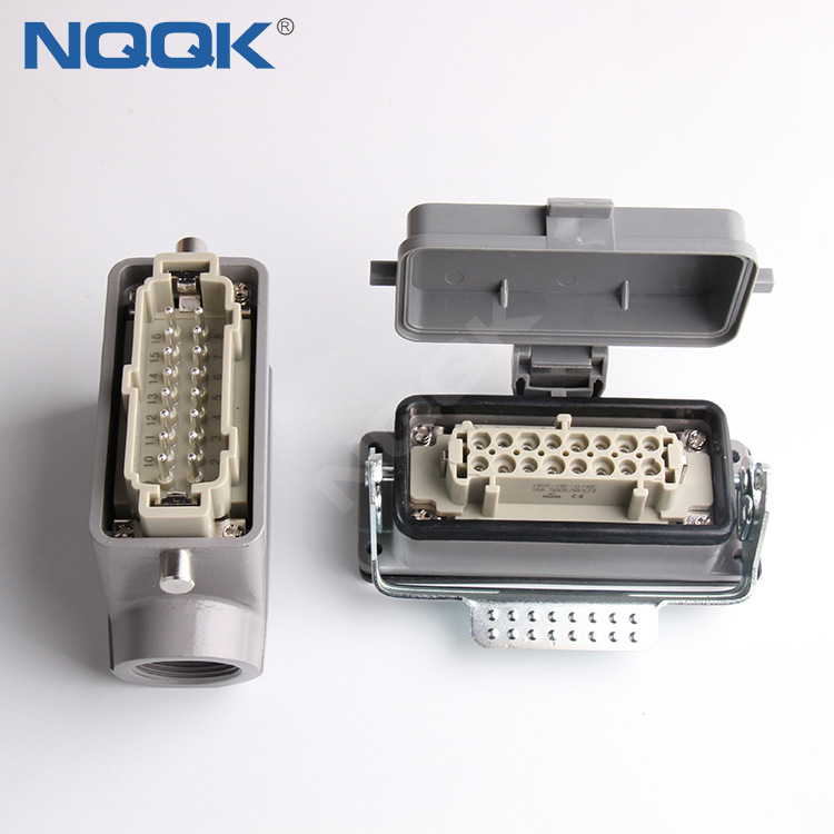 H10A-TS H10A-AD-LB 10 pin bulk head mounted heavy duty industrial connector