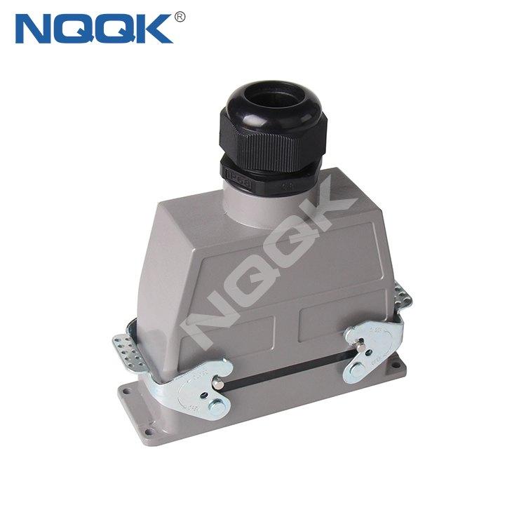 10 pin bulk head mounted heavy duty sockets connector