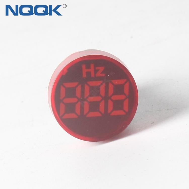 0~99Hz 22mm Square Mini LED Indicator Light Lamp HZ Hertz Frequency Table Meter