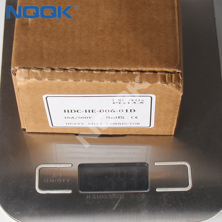 (HDC-HE-016-02S) HE-016-M 16 pins 500VAC 16A wire industrial wire heavy duty connector
