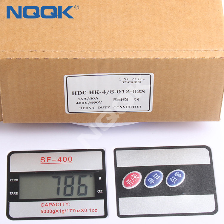 china nqqk supplier 24 pin Heavy duty socket connector