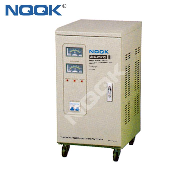 SVC 15KVA / 20KVA Servo Type 1Phase Series Voltage Stabilizer Regulator
